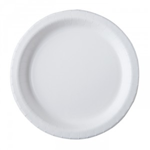 Assiettes en carton dur - 26 cm - lot de 20 - Blanc