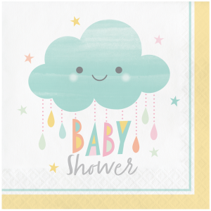 Serviettes - Baby Shower Nuage - lot de 16