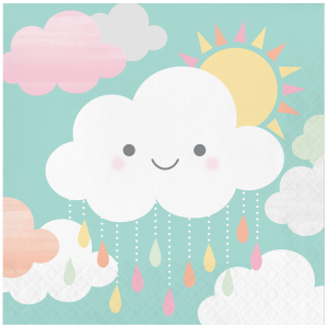 Serviettes - Nuage - lot de 16