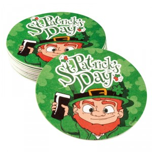 "Sous-bock ""St Patrick's Day"" - lot de 10"