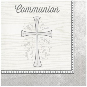"Serviettes ""Communion"" - lot de 16"