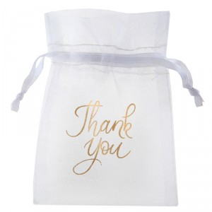 "Pochons ""Thank you"" - lot de 6"