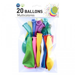 Ballons standards - lot de 20 - Multicolores