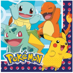 Serviettes - Pokemon - lot de 16