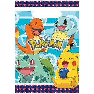 Sacs en plastique - Pokemon - lot de 8