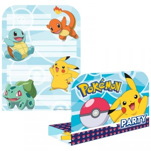 Cartes d'invitation - Pokemon - lot de 8
