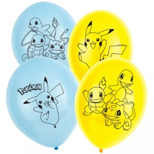 Ballons de baudruche - Pokemon - lot de 6