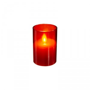 Bougie en cire LED - Rouge