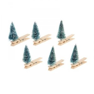 Pinces - Sapins - lot de 6