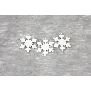 Confettis de table - Flocons - lot de 12