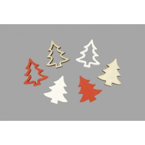 Confettis de table Sapin - Laponie - lot de 12