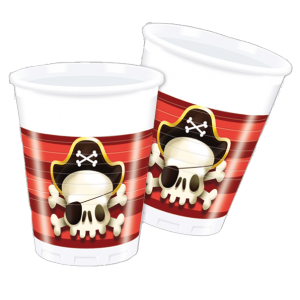 Gobelets Pirate Powerfull (lot de 6)