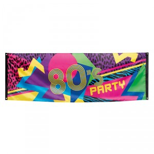Bannière - 80's Party