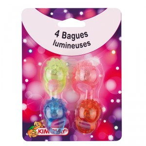 Bagues LEDs - lot de 4