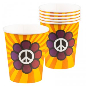 Gobelets - Peace - lot de 6