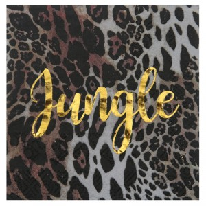 Serviettes cocktails - Jungle pure - lot de 20