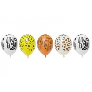 Ballons de baudruche - Safari - lot de 5