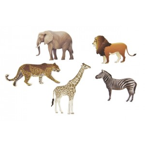 Confettis de table - Animaux de la savane - lot de 6