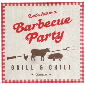 Serviettes - BBQ Party - lot de 20
