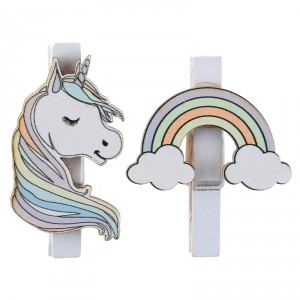 Pinces - Licorne - lot de 6