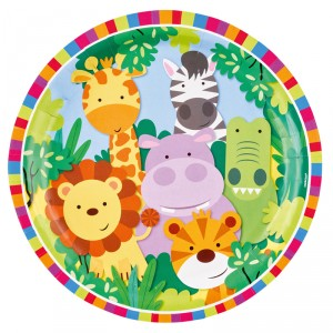 Assiettes - Jungle kids - lot de 8