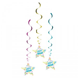 "Spirales ""Happy Birthday"" - Party - lot de 3"