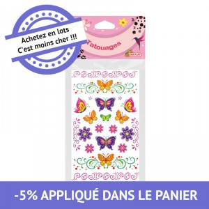 Tatouages girly assortis - lot de 24