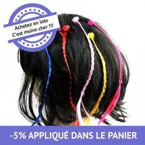 Mèche clip color - lot de 48
