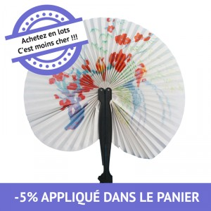 Eventail chinois - lot de 48