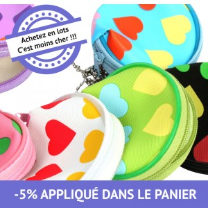 Porte monnaie zip love - lot de 48