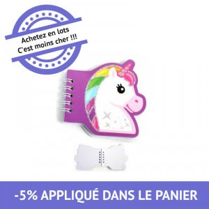 Carnet Licorne - 41 pages - lot de 48