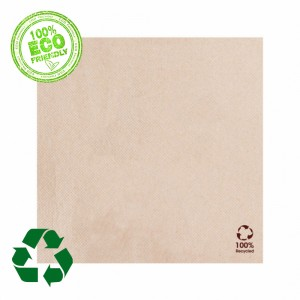 Serviettes cocktail - Eco-bio - lot de 100