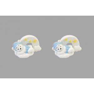 Figurines - Oursons sur un nuage - lot de 2