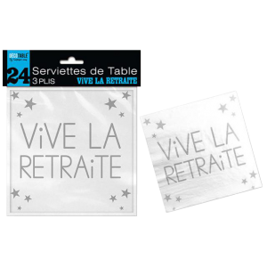 Serviettes Retraite (lot de 24)