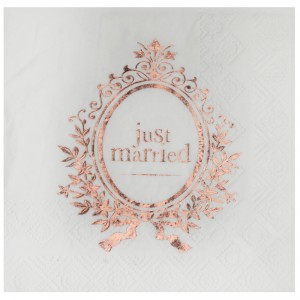 "Serviettes cocktail  ""Just Married"" - lot de 20 -..."