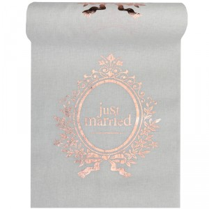 "Chemin de table  ""Just Married"" - Rose Gold"