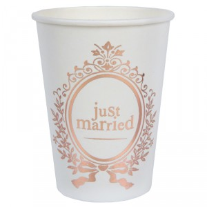 "Gobelets  ""Just Married"" - lot de 10 - Rose Gold"