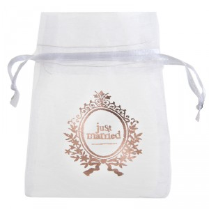 "Pochons  ""Just Married"" - lot de 6 - Rose Gold"