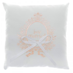 "Coussin alliance ""Just Married"" - Rose Gold"