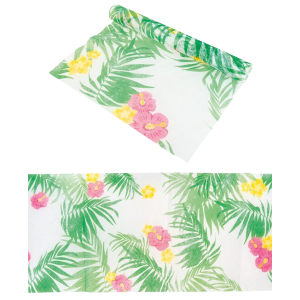 Chemin de table feuillage tropical - 29 cm x 5 m