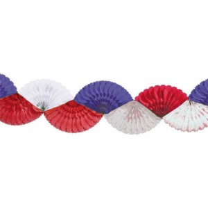 Guirlande Eventail - 3 m - Tricolore