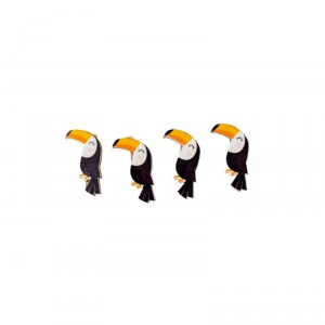 Pinces - Toucan - lot de 4