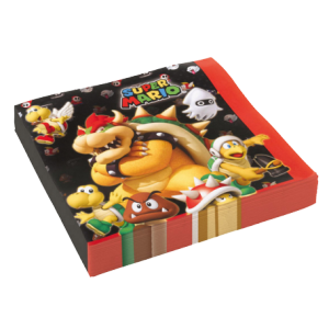 Serviettes Super Mario (lot de 16)