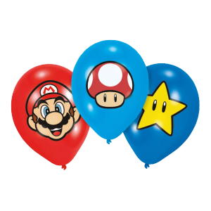 Ballons Super Mario (lot de 6)