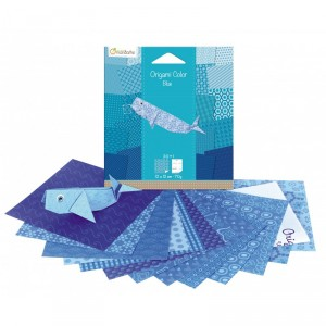 Origami Color - lot de 20 - Bleu