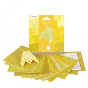 Origami Color - lot de 20 - Jaune