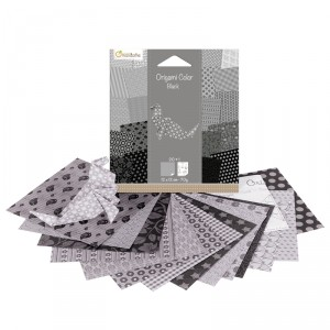 Origami Color - lot de 20 - Noir