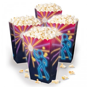 Pots à Pop corn - Disco Fever- lot de 4