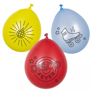 Ballon de baudruche - Disco Fever - lot de 6