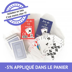 Jeux de 54 cartes - lot de 18